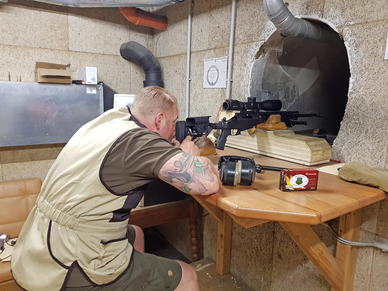 Schußtraining für Jäger uns Sportschützen bei Waffen Hofer im Mühlviertel